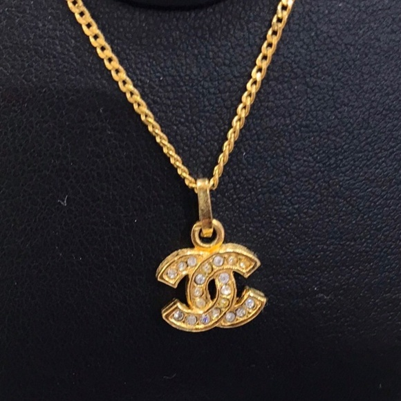 bc800fd9360d3a CHANEL Jewelry | Auth Chain Necklace Cc Pendant Gold Tone | Poshmark